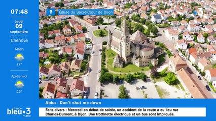09/09/2021 - Le 6/9 de France Bleu Bourgogne en vidéo