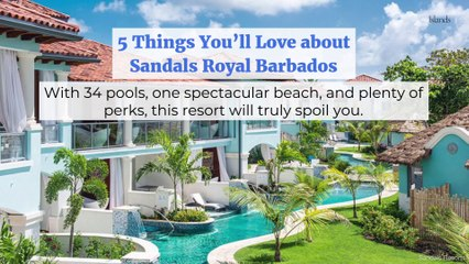 5 Things You'll Love about Sandals Royal Barbados