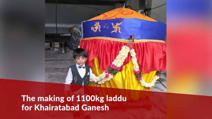 Hyderabad's Khairatabad Ganesh offered 1,100kg laddu: Here's how it was made