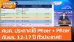 ศบค. ประกาศใช้วัคซีน Pfizer + Pfizer กับนร. 12 - 17 ปี ทั่วประเทศ!! (11 ก.ย. 64) คุยโขมงบ่าย 3 โมง