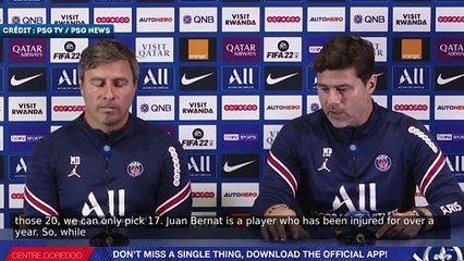 Mauricio Pochettino explique l'absence de Juan Bernat de la liste pour la Ligue des Champions