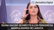 Macarena Olona sacude en vivo y en directo a los periodistas manipuladores de LaSexta