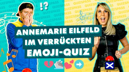 Annemarie Eilfeld im Emoji-Quiz: Welche Songs suchen wir?
