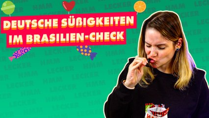 Brasilianerin probiert deutsche Süßigkeiten!