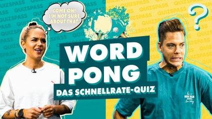 Word Pong: Mit Cedric und Gina!