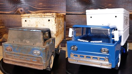 How a 1960s Structo toy truck is restored