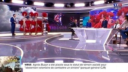 Un présentateur météo perturbé par des danseuses du Moulin Rouge sur LCI