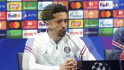 """PSG : """"Sur le terrain, il n'y a pas de nom, pas de star"""" avertit Marquinhos"""