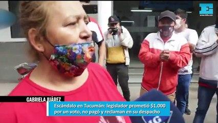 Escándalo en Tucumán legislador prometió $1.000 por un voto, no pagó y reclaman en su despacho
