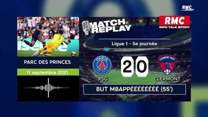 Ligue 1 : Le goal replay de la large victoire du PSG contre Clermont (avec les commentaires RMC)