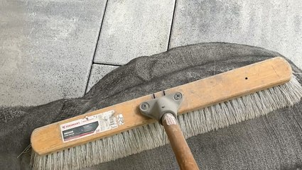 How outdoor patios are grouted with sand