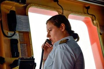 Erste Frau navigiert russischen Atomeisbrecher