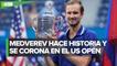 Daniil Medvedev es campeón del US Open e impide que Djokovic complete el Grand Slam