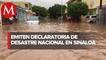 En Sinaloa, emiten declaratoria de desastre natural tras paso de huracán 'Nora'
