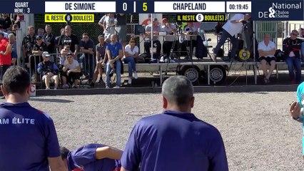 Quart DE SIMONE vs CHAPELAND : National à pétanque de Chalon-sur-Saône 2021