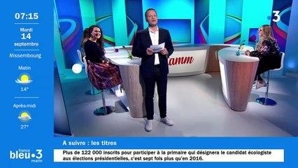 14/09/2021 - Le 6/9 de France Bleu Alsace en vidéo