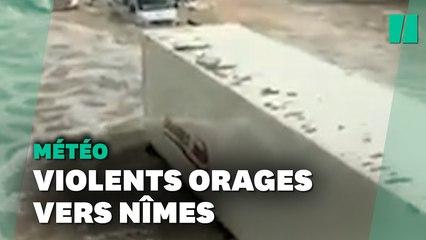 Les images des violents orages qui ont frappé le Gard et le sud de la France