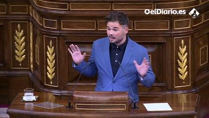 """Rufián, a Vox: """"Para denuncia falsa lo de la señora Carmen con sus colegas fascistas de Desokupa"""""""