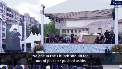 Pope Francis meets with the Roma community in Slovakia