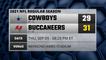 Cowboys @ Buccaneers Game Recap for THU, SEP 09 - 08:20 PM ET