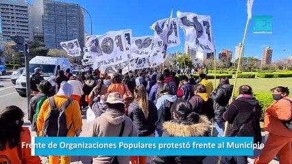 Frente de Organizaciones Populares protestó frente al Municipio