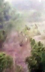 Video cae granizo en Santiago Rodríguez