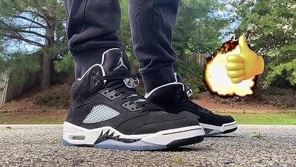 Air Jordan 5 Oreo Moonlight Retro Sneaker 2021 Review on Feet