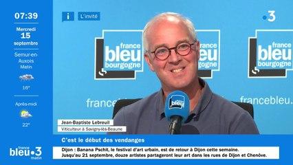 Jean-Baptiste Lebreuil, viticulteur à Savigny-lès-Beaune, s'apprête à vendanger ses parcelles
