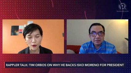What made Tim Orbos abandon Duterte for Isko