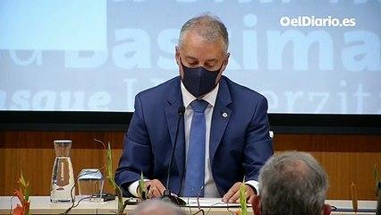 """Urkullu lamenta que un juez que """"menosprecia a la ciencia"""" como Luis Garrido decida sobre las restricciones en Euskadi"""