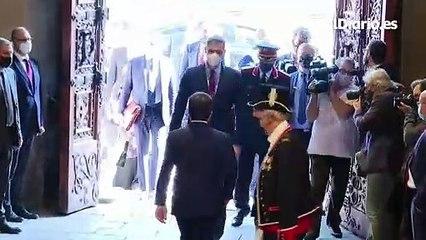 Pedro Sánchez llega al Palau de la Generalitat para reunirse con Pere Aragonès