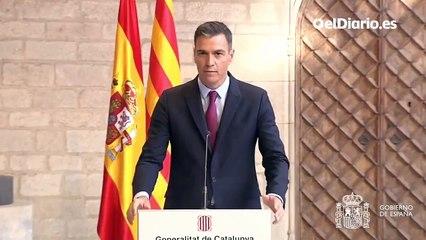 """Pedro Sánchez, tras reunirse con Aragonès: """"Los problemas de Catalunya no empezaron ayer ni resolverán mañana"""""""