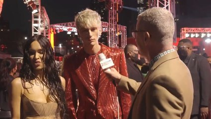 Machine Gun Kelly Refuses To Answer About Red Carpet Fight