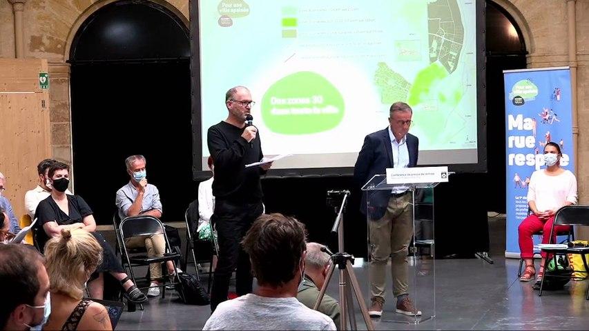 Conférence de presse de rentrée du maire de Bordeaux