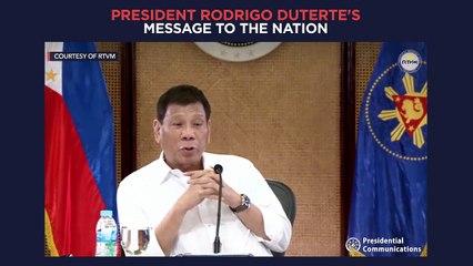 President Duterte's recorded message to the nation | aired Thursday, September 16