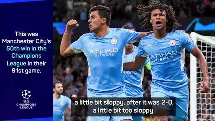Goalscorer Ake not happy despite Man City's 6-3 win