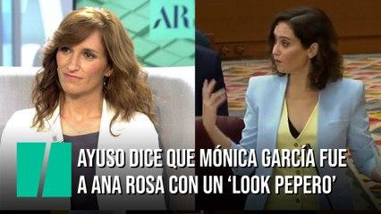 Ayuso dice que Mónica García fue al programa de Ana Rosa con un 'look pepero'