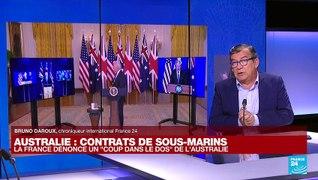 Contrats de sous-marins avec l'Australie : Paris fustige Canberra et Washington