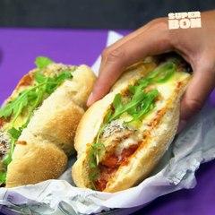 Sandwich aux boulettes de viande