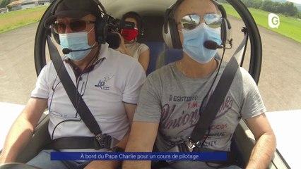 Reportage - À bord du Papa Charlie pour un cours de pilotage - Reportage - TéléGrenoble