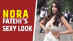 Nora Fatehi oozes oomph in white cut out dress