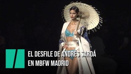 El desfile de Andrés Sardá en la Mercedes-Benz Fashion Week Madrid 2021