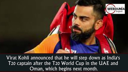 Virat Kohli to step down as T20I captain after World Cup