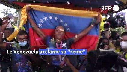 """Athlétisme: Rojas, la """"reine"""" de Tokyo revient sur ses terres au Venezuela"""