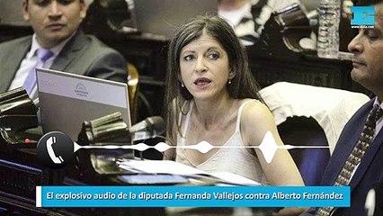 El explosivo audio de la diputada Fernanda Vallejos contra Alberto Fernández