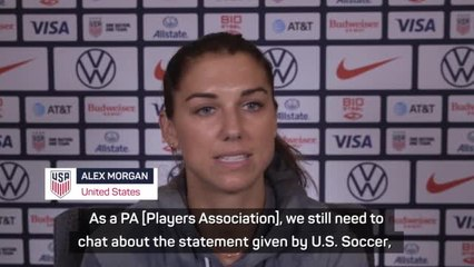 Morgan cautiously 'optimistic' of US Soccer's equal pay offer