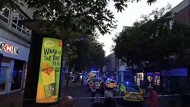 Breaking incident in Northampton town centre