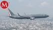 Aviones de Fuerza Aérea sobrevuelan CdMx en Desfile Militar