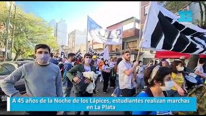 A 45 años de la Noche de los Lápices, estudiantes realizan marchas en La Plata