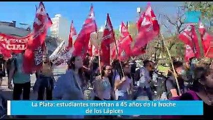 La Plata: estudiantes marchan a 45 años de la Noche de los Lápices